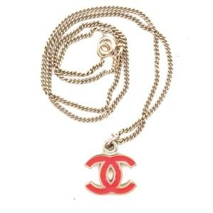 CHANEL Jewelry - Cc Enamel Plated Chain Charm Necklace
